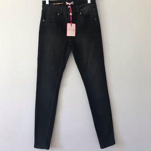 NWT Ted Baker London Black Abrasion Skinny Jeans